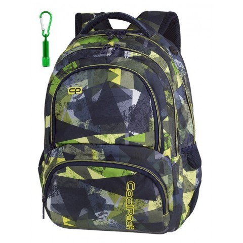 Plecak szkolny CoolPack CP SPINER LIME ABSTRACT limonkowa abstrakcja A001