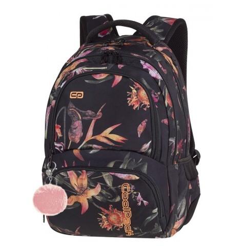 Plecak szkolny CoolPack CP SPINER LILIES kwiaty lilie czarny A021
