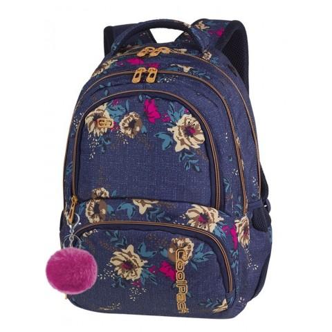 Plecak szkolny CoolPack CP SPINER BLUE DENIM FLOWERS jeans w kwiaty A055