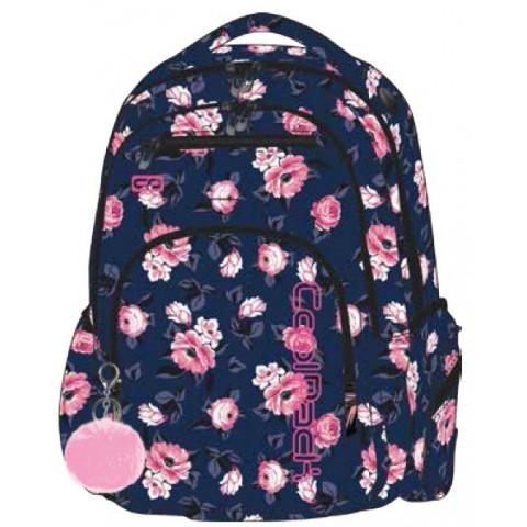 Plecak szkolny CoolPack CP FLASH ROSE GARDEN róże - A745 + POMPON GRATIS