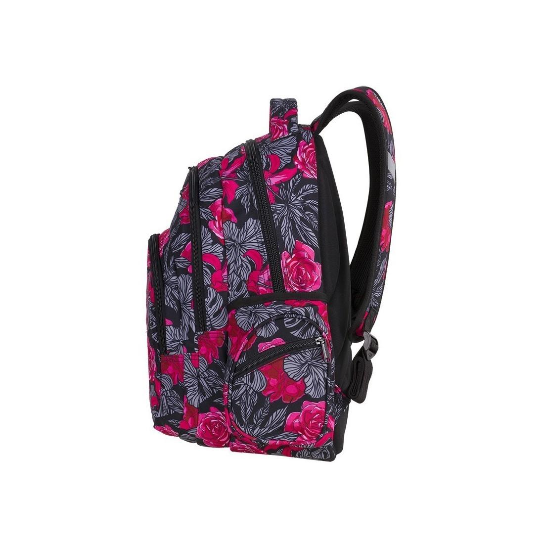 9622fa58faf56 ... Plecak szkolny CoolPack CP FLASH RED & BLACK FLOWERS hiszpańskie kwiaty  A240 + POMPON GRATIS ...