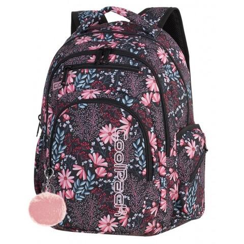 Plecak szkolny CoolPack CP FLASH CORAL BLOSSOM koralowe kwiaty dla dziewczyny - A269 + POMPON GRATIS