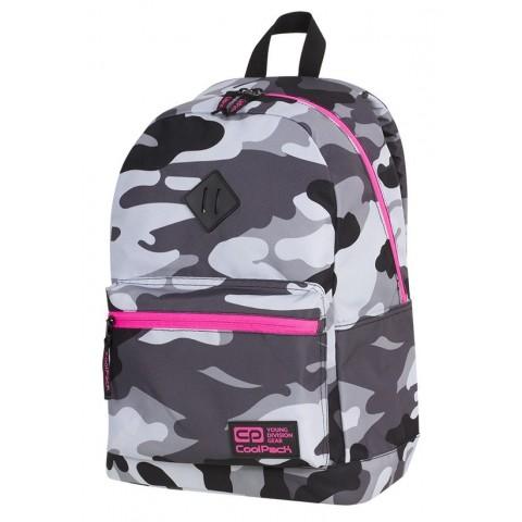 Plecak miejski CoolPack CP CROSS EVA CAMO PINK NEON dla nastolatek moro z różowymi elementami - A357