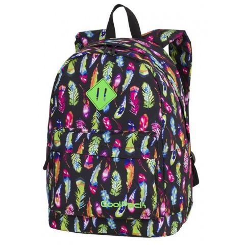 Plecak miejski CoolPack CP CROSS EVA FEATHERS kolorowe piórka dla dziewczyn- A234