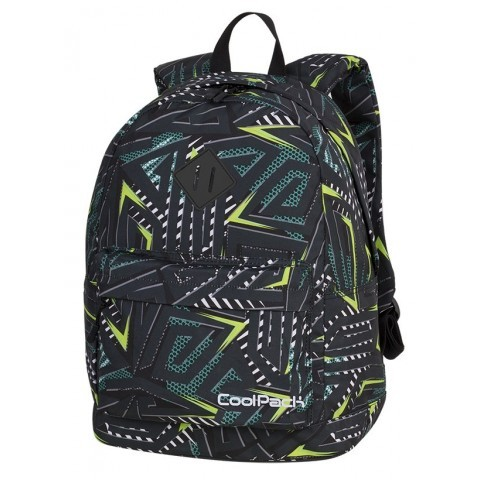 Plecak miejski CoolPack CP CROSS EVA TRIANGULAR SPIRAL zielone spirale dla nastolatka - A197