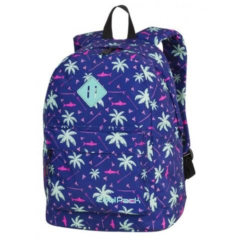 Plecak miejski CoolPack CP CROSS EVA PINK SHARKS palmy rekiny dla dziewczyn - A261