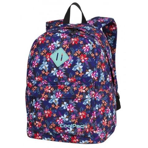 Plecak miejski CoolPack CP CROSS EVA TROPICAL BLUISH kolorowa tropikalna łąka dla dziewczyn - A244