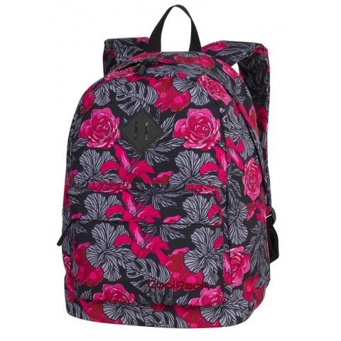 d7b00ba90a547 Plecak miejski CoolPack CP CROSS EVA RED & BLACK FLOWERS hiszpańskie kwiaty  dla dziewczyn - A242