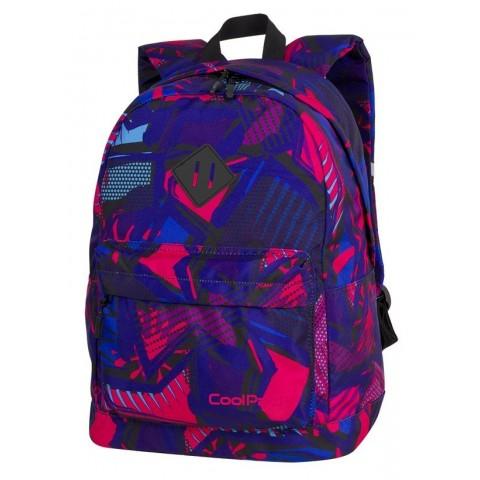Plecak miejski CoolPack CP CROSS EVA CRAZY PINK ABSTRACT różowa abstrakcja - A287