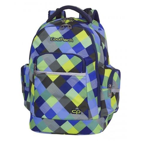bf09856fbbf2b Plecak szkolny CoolPack CP BRICK BLUE PATCHWORK w modną kratkę - A497