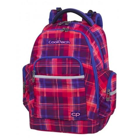 Plecak szkolny CoolPack CP BRICK MELLOW PINK różowy w kratkę dla dziewczyn - A509