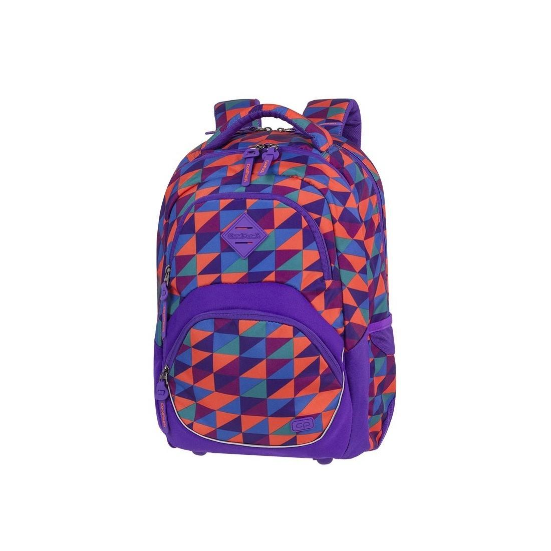 107d1bf9aaf94 Plecak szkolny ergo CoolPack CP VIPER TRIANGLE MOSAIC kolorowe trójkąty  abstrakcja - A581