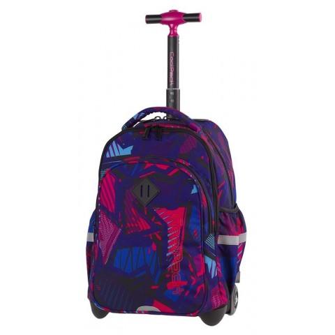 Plecak na kółkach różowa abstrakcja, różowy, niebieski dla dziewczyn CoolPack CP JUNIOR CRAZY PINK ABSTRACT