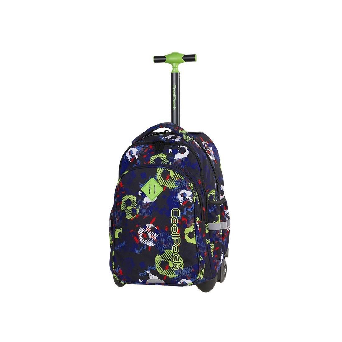 f1871ac13c104 Plecak na kółkach w piłki granatowy, zielony, biały dla chłopaka CoolPack  CP JUNIOR FOOTBALL