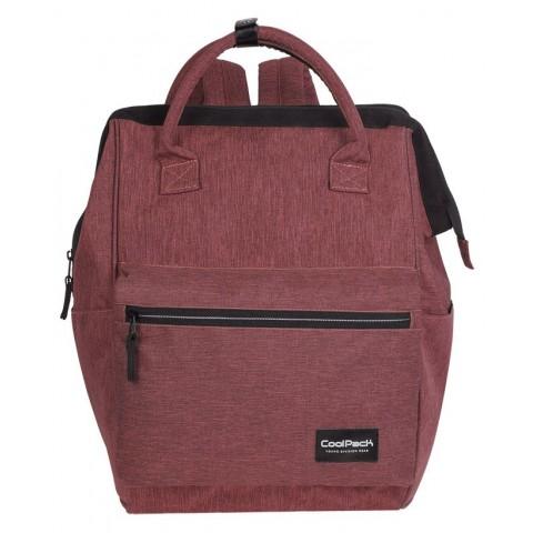 Plecak na laptop burgundowy CoolPack CP TASK SNOW BURGUNDY/SILVER