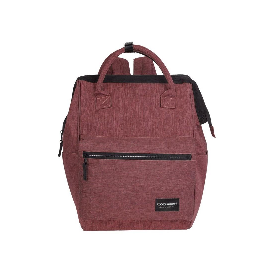 ec7f4720334e5 Bordowy plecak na laptop dla dorosłych CP Task Snow Burgundy Silver ...