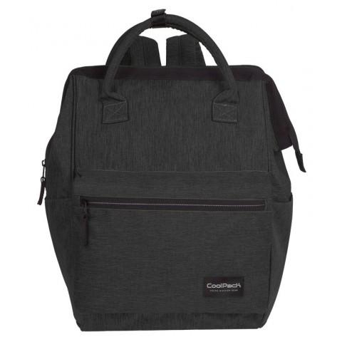 Plecak na laptop czarny melanż denim CoolPack CP TASK SNOW BLACK/SILVER - A328