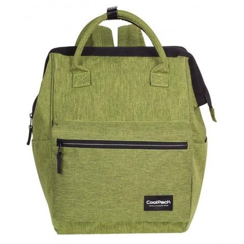 Plecak na laptop limonkowy melanż denim CoolPack CP TASK SNOW LIME/SILVER - A333