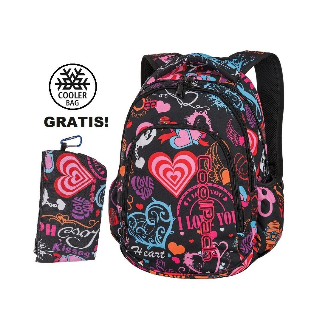 059268f276465 Plecak szkolny (do klas 1-3) CoolPack CP PRIME EMOTIONS w kolorowe serca