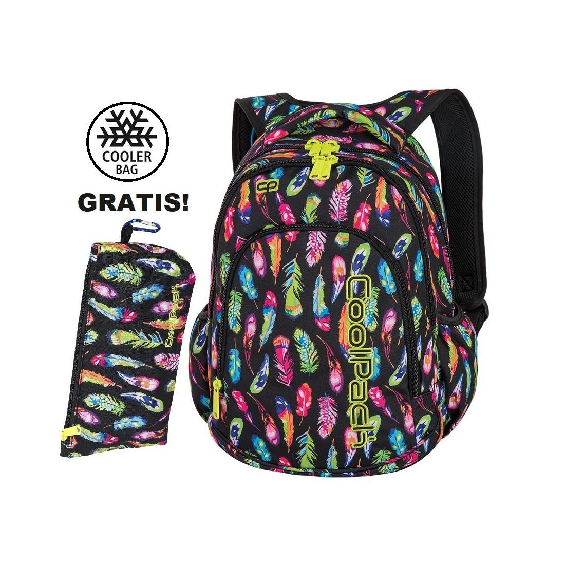 c7c2b6f0c0dd8 Plecak do klas 1-3 CoolPack CP PRIME FEATHERS w kolorowe piórka dla  dziewczynki -