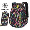 Plecak do klas 1-3 CoolPack CP PRIME FEATHERS w kolorowe piórka dla dziewczynki - A233 + GRATIS COOLER BAG