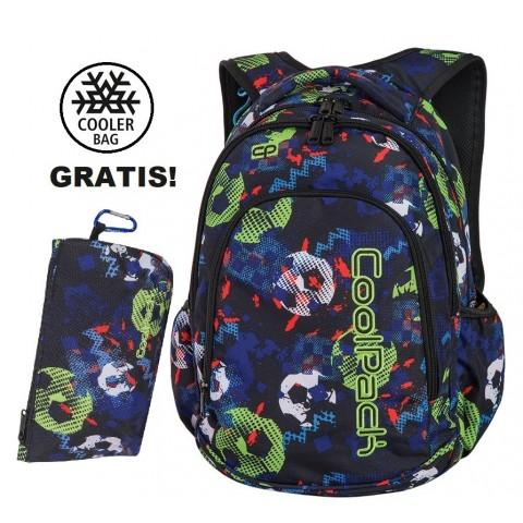 Plecak szkolny (do klas 1-3) CoolPack CP PRIME FOOTBALL z piłką dla pierwszoklasisty mundial 2018 - A188 + GRATIS COOLER BAG