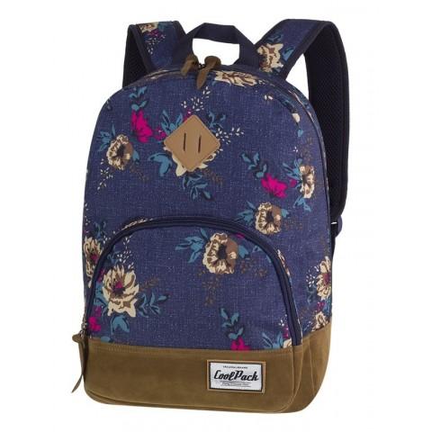 Plecak w kwiaty niebieski dla dziewczyny CoolPack CP CLASSIC BLUE DENIM FLOWERS