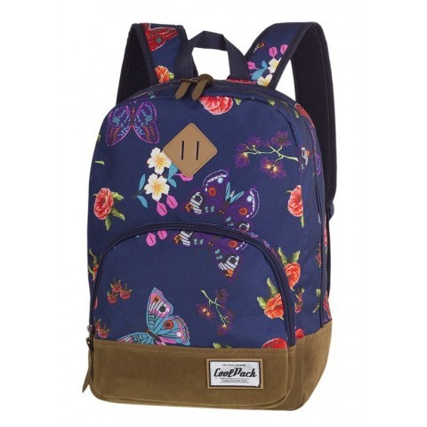 Plecak miejski granatowy kwiaty i motyle CoolPack CP CLASSIC SUMMER DREAM - A100