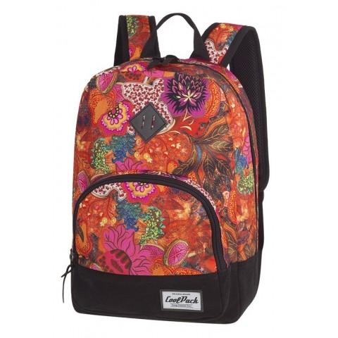 Plecak w kwiaty pomarańczowy dla dziewczyny CoolPack CP CLASSIC FLOWER EXPLOSION