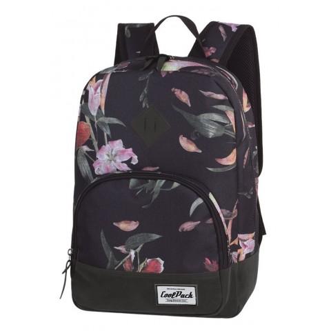 Plecak w kwiaty czarny dla dziewczyny CoolPack CP CLASSIC LILIES