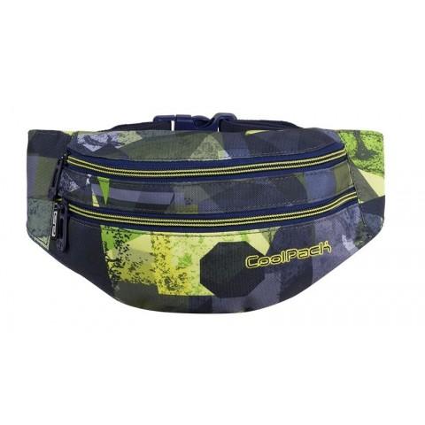 Saszetka nerka torba na pas CoolPack CP MADISON LIME ABSTRACT