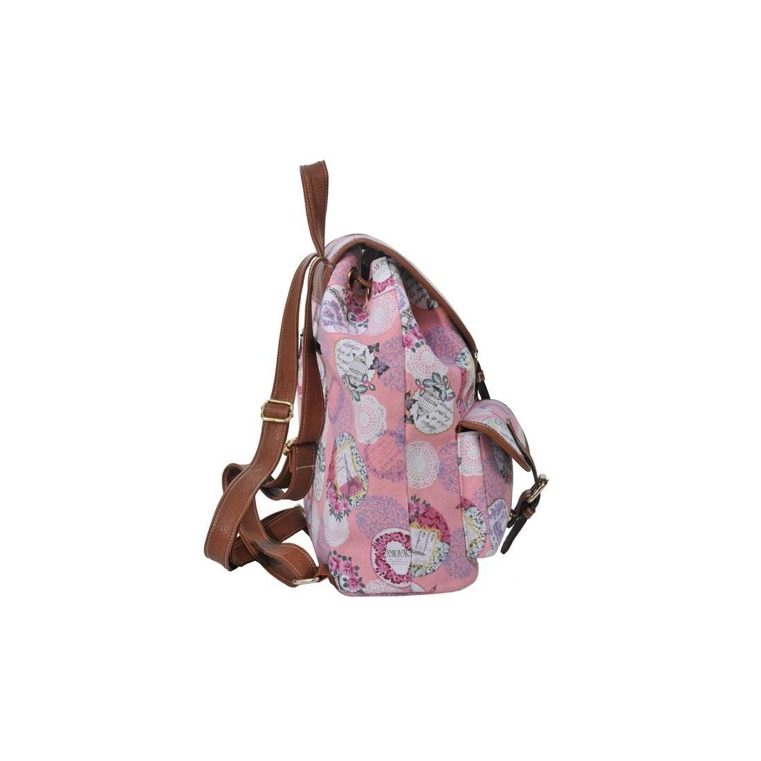 Plecak młodzieżowy Canvas Vintage Paryż - plecak-tornister.pl