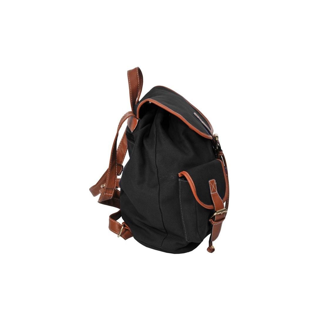 Plecak młodzieżowy Canvas Vintage czarny - plecak-tornister.pl