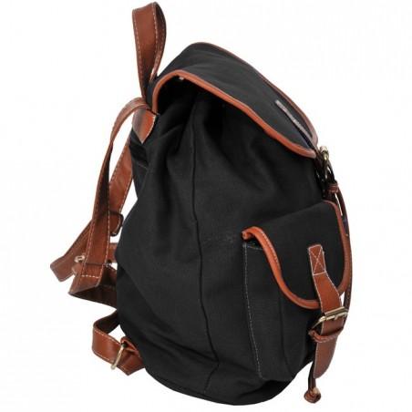Plecak młodzieżowy Canvas Vintage czarny