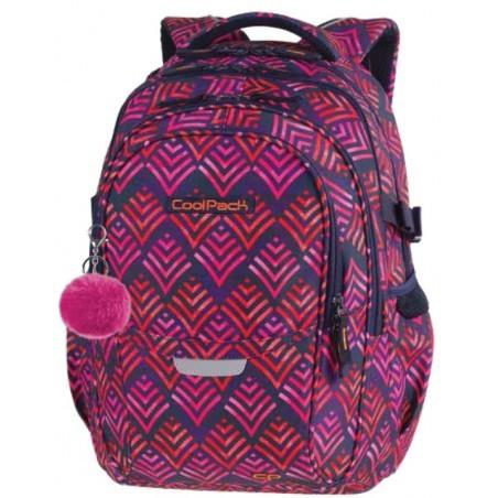 Plecak szkolny CoolPack CP FACTOR HAWAII PINK liście palmy - 4 przegrody - A012 + GRATIS!