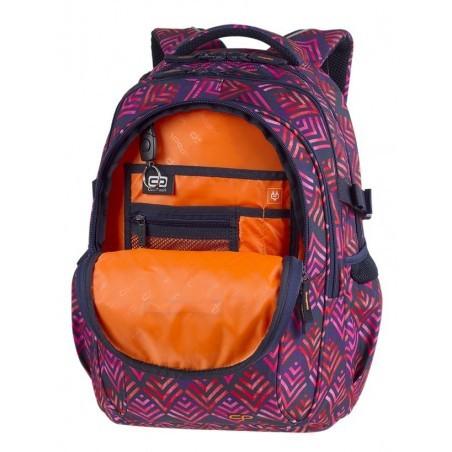 Plecak szkolny CoolPack CP FACTOR HAWAII PINK liście palmy organizer - 4 przegrody - A012