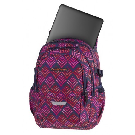 Plecak szkolny CoolPack CP FACTOR HAWAII PINK liście palmy kieszeń na laptop - 4 przegrody - A012