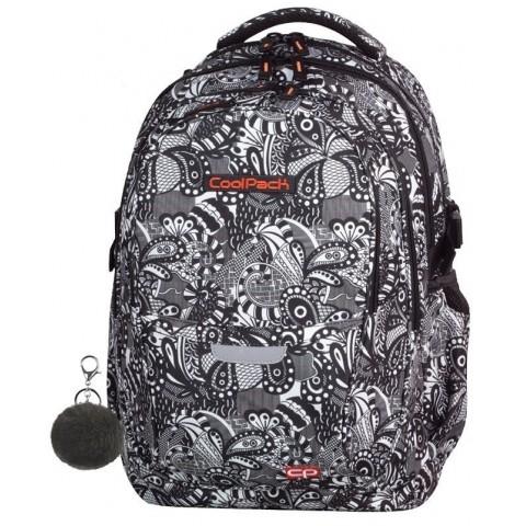 Plecak szkolny CoolPack CP - 4 przegrody FACTOR BLACK LACE czarno-biały do kolorowania - A167
