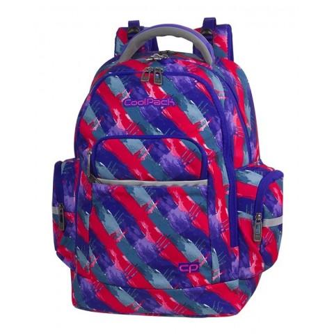 Plecak szkolny CoolPack CP BRICK VIBRANT LINES rozmazane pasy różowo - niebieskie