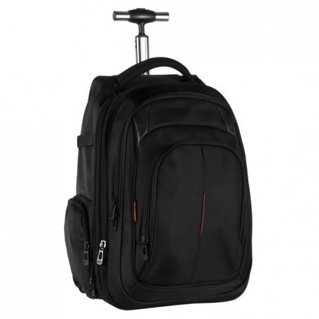 Plecak na kółkach biznesowy czarny z komorą na laptop