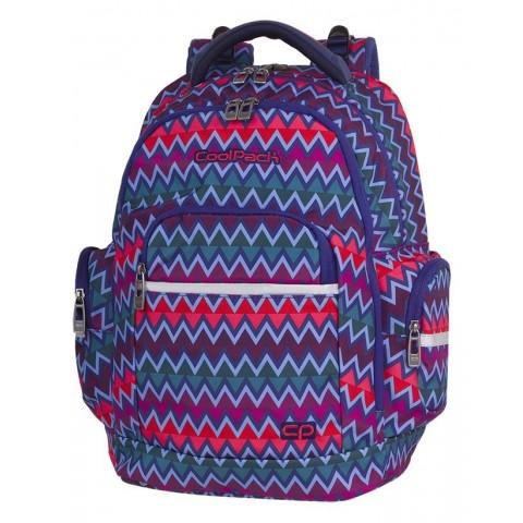 Plecak szkolny CoolPack CP BRICK CHEVRON STRIPES kolorowe zygzaki
