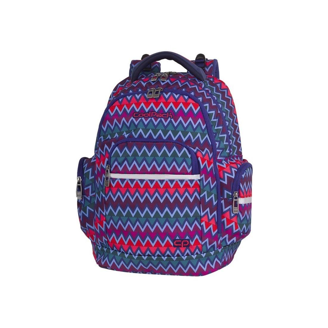 20258c0d1b6cf Plecak szkolny CoolPack CP BRICK CHEVRON STRIPES kolorowe zygzaki ...