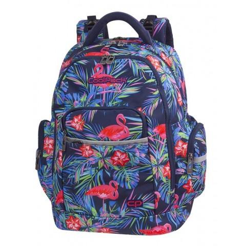 Plecak szkolny flamingi kwiaty liście CoolPack CP BRICK PINK FLAMINGO
