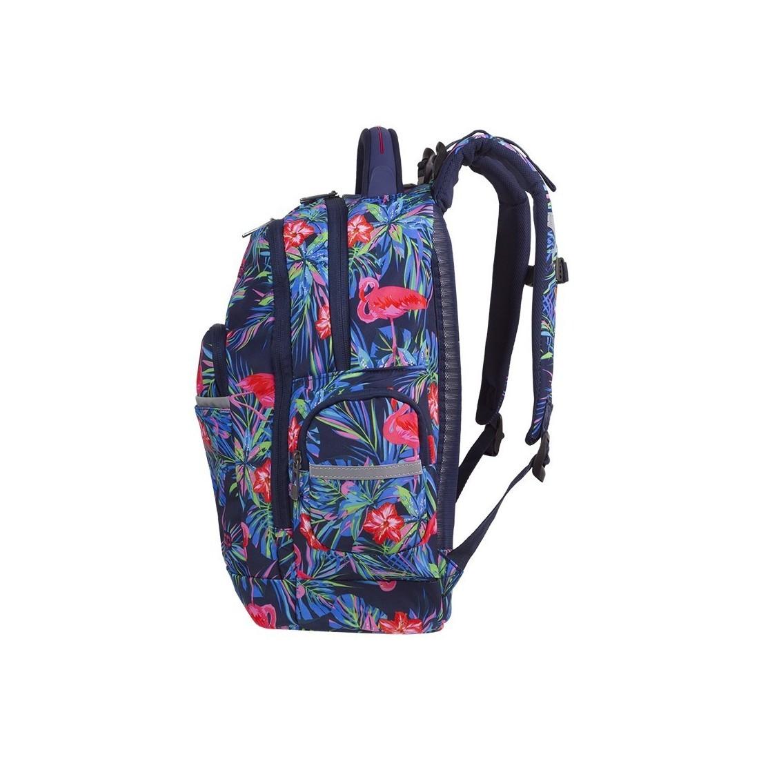 74c463bb6d864 ... Plecak szkolny flamingi kwiaty liście CoolPack CP BRICK PINK FLAMINGO  ...