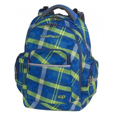 Plecak szkolny zielona krata niebieski CoolPack CP BRICK SPRINGFIELD