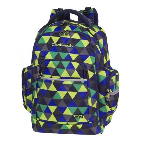 Plecak szkolny kolorowe trójkąty CoolPack CP BRICK PRISM ILLUSION
