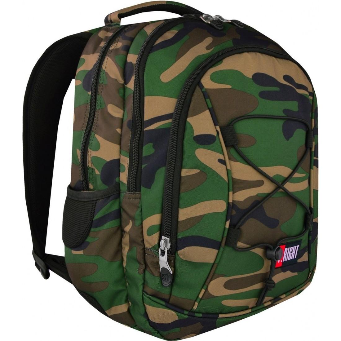 nowe niższe ceny oficjalna strona nowy haj Plecak szkolny ST.RIGHT MORO ze sznurkiem camo - BP32