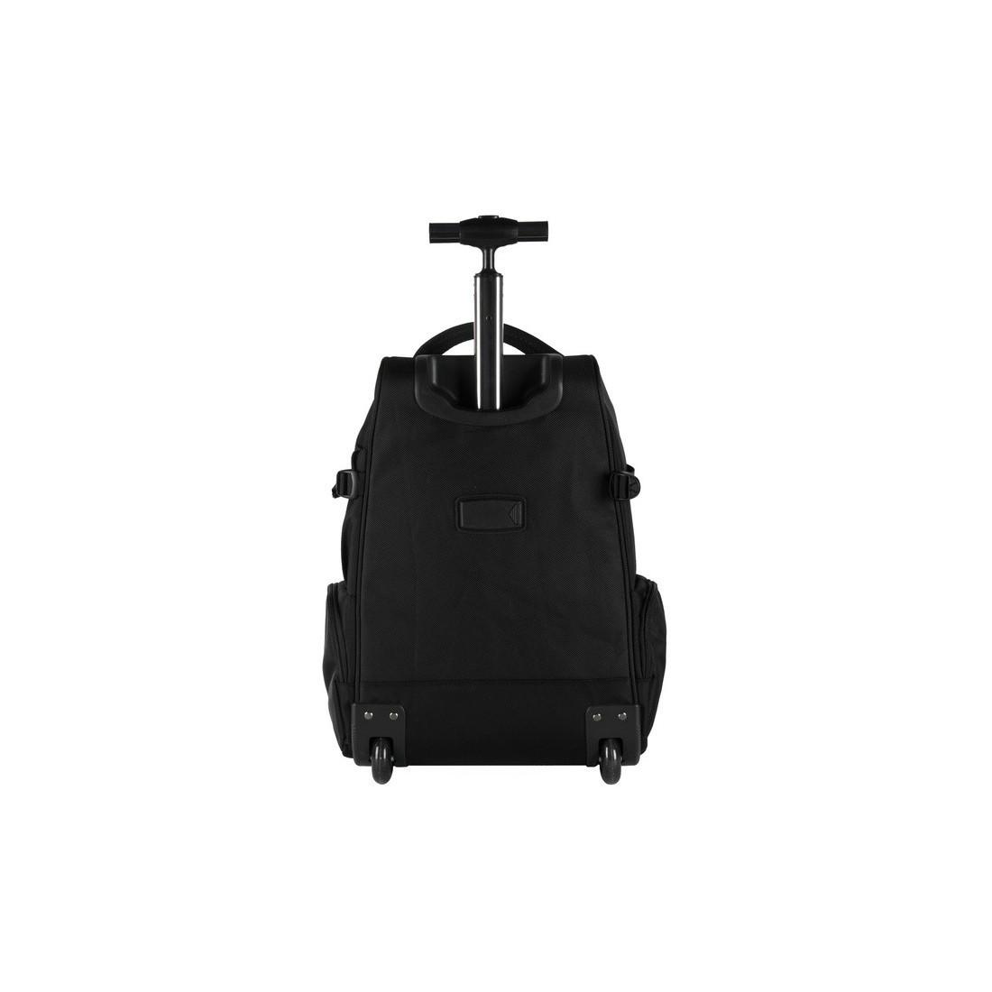 Plecak na kółkach biznesowy czarny z komorą na laptop - plecak-tornister.pl