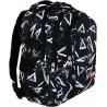 Plecak szkolny ST.RIGHT 3ANGLE białe trójkąty na czarnym tle dla ucznia
