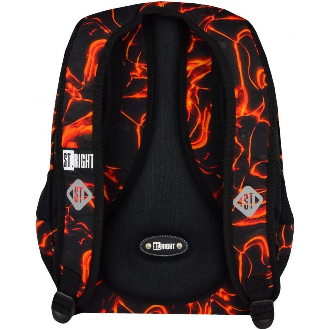 Plecak szkolny 32 ST.RIGHT LAVA gorąca czerwona lawa BP32